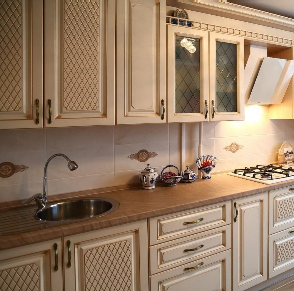 Акриловые кухни-Кухня из пластика «Модель 135»-фото1