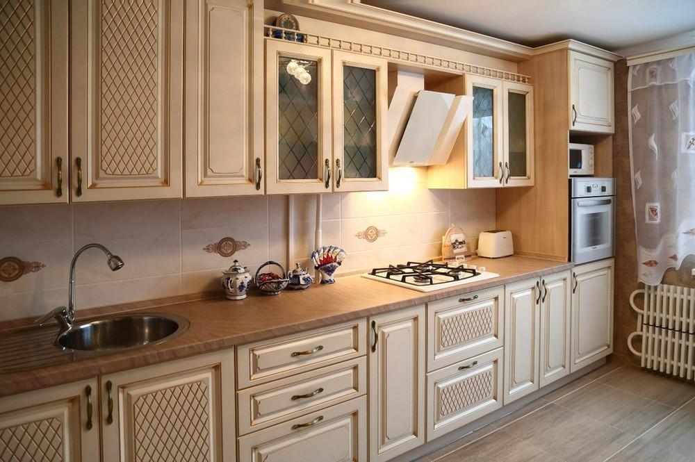 Акриловые кухни-Кухня из пластика «Модель 135»-фото2
