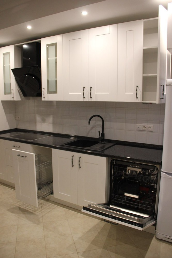 Белый кухонный гарнитур-Кухня из массива «Модель 175»-фото3