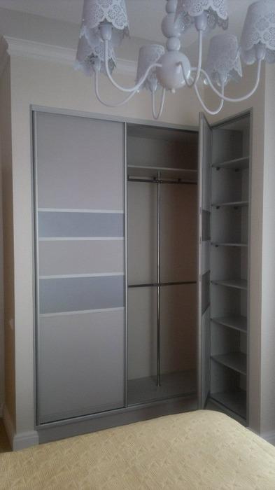 Встроенные шкафы-купе-Угловой шкаф-купе «Модель 184»-фото2