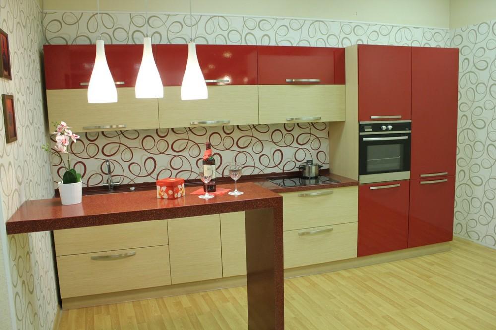 Акриловые кухни-Кухня из пластика «Модель 129»-фото3