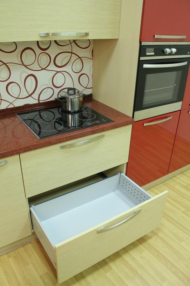Акриловые кухни-Кухня из пластика «Модель 129»-фото7