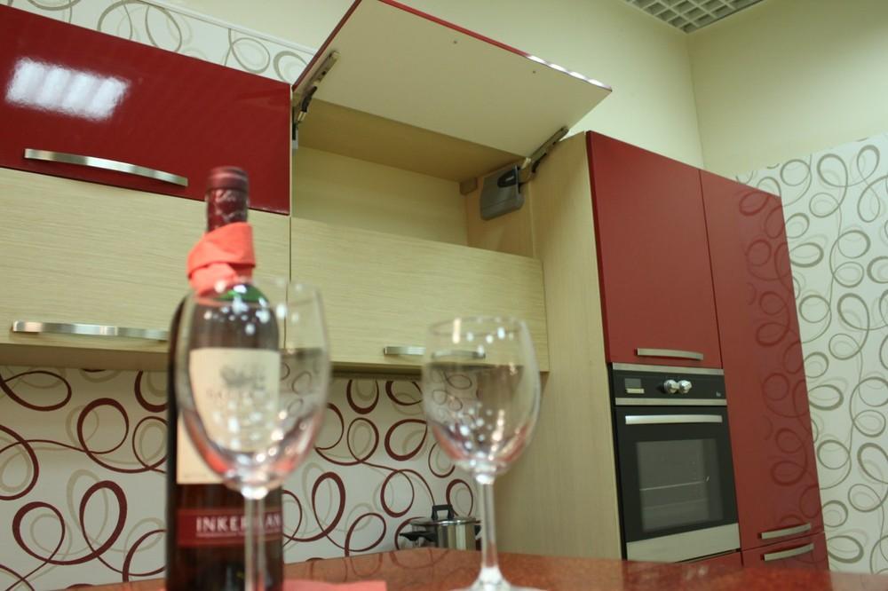 Акриловые кухни-Кухня из пластика «Модель 129»-фото10