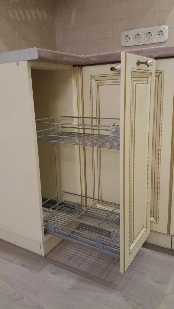 Белый кухонный гарнитур-Кухня МДФ в ПВХ «Модель 69»-фото4