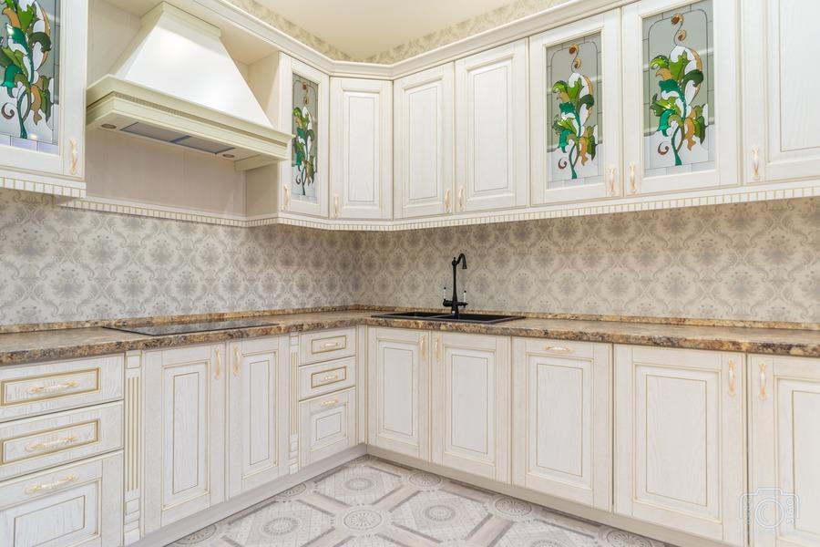 Бежевые кухни-Кухня из шпона «Модель 8»-фото4