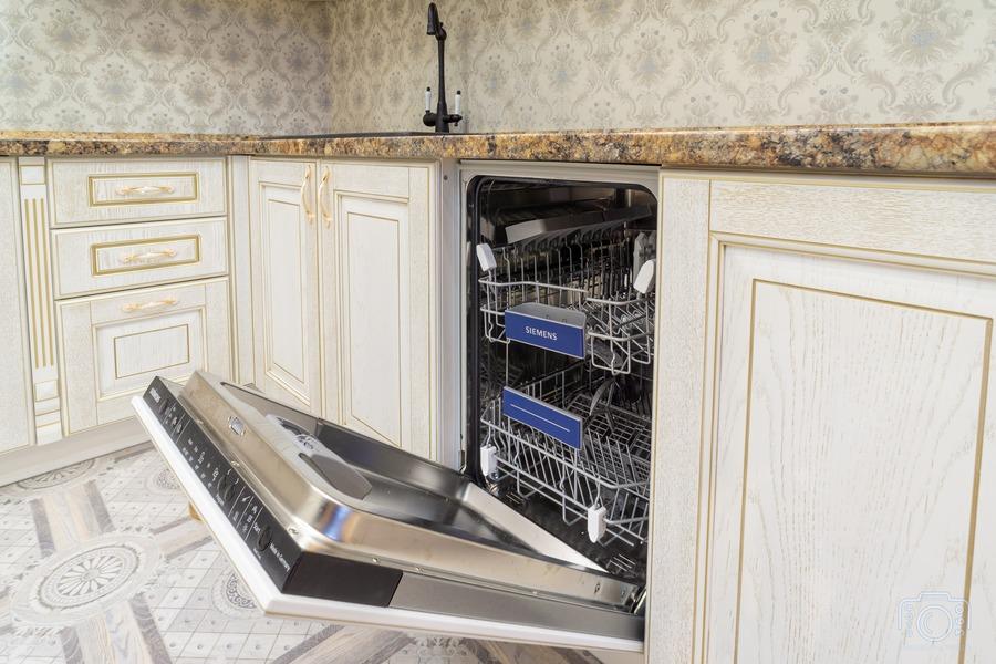 Бежевые кухни-Кухня из шпона «Модель 8»-фото7