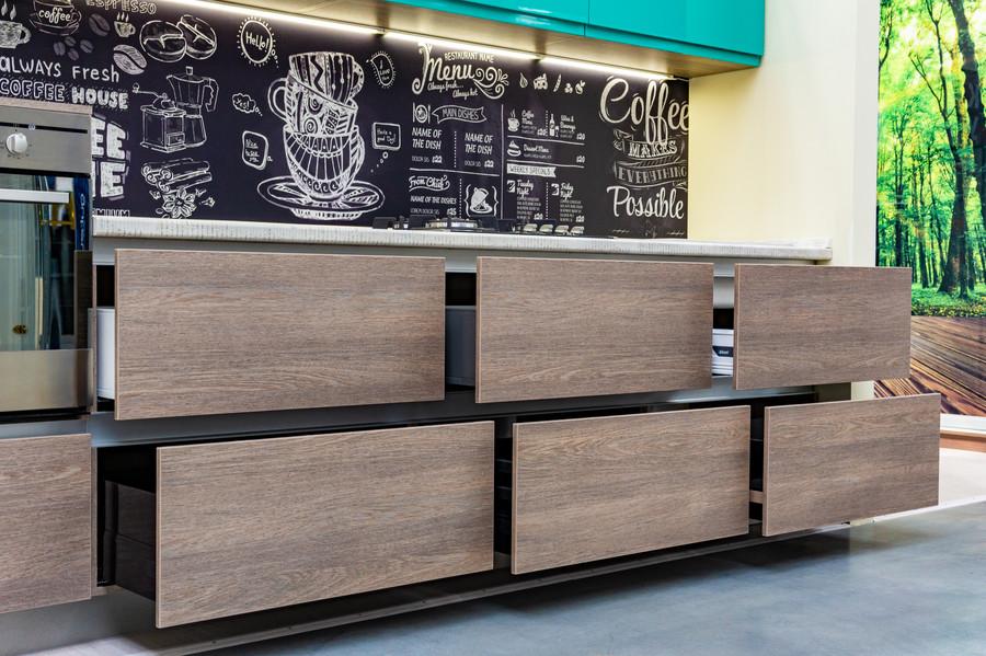 Встроенная кухня-Кухня МДФ в эмали «Модель 49»-фото5