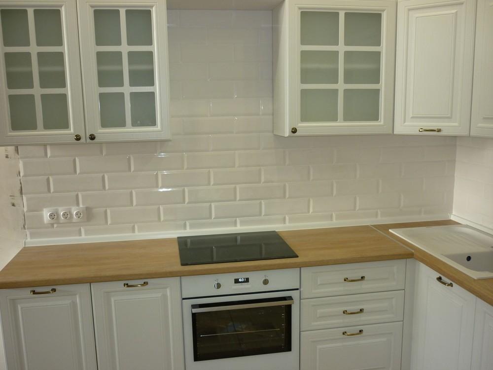 Белый кухонный гарнитур-Кухня МДФ в ПВХ «Модель 307»-фото3