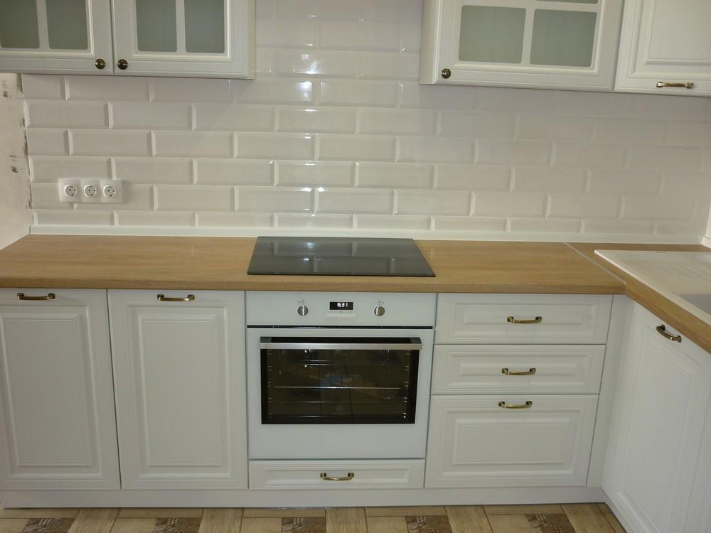 Белый кухонный гарнитур-Кухня МДФ в ПВХ «Модель 307»-фото4