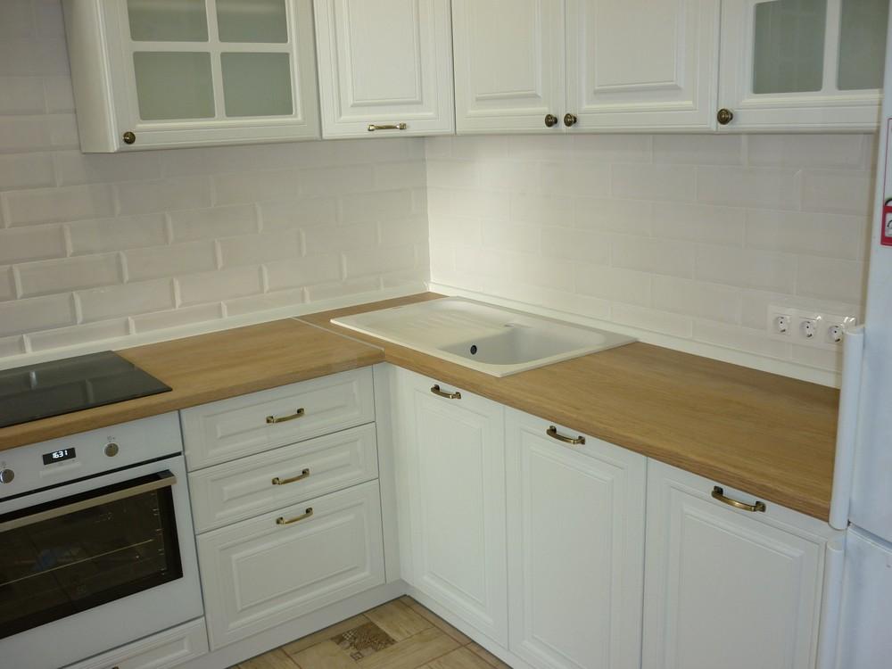 Белый кухонный гарнитур-Кухня МДФ в ПВХ «Модель 307»-фото5
