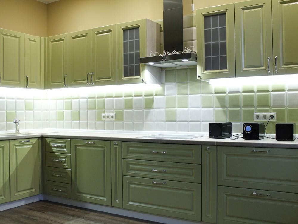 Встроенная кухня-Кухня МДФ в эмали «Модель 123»-фото3