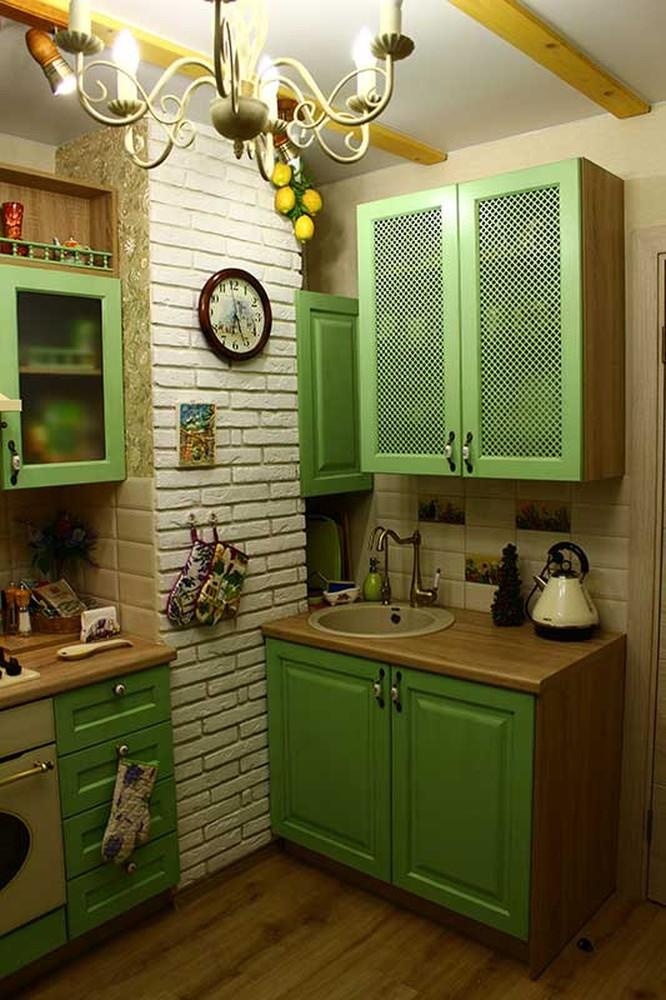 Встроенная кухня-Кухня МДФ в эмали «Модель 120»-фото2