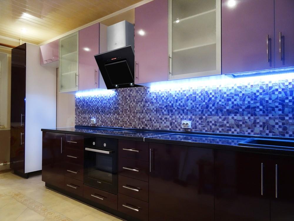 Встроенная кухня-Кухня МДФ в ПВХ «Модель 296»-фото1