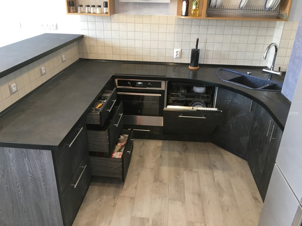 Встроенная кухня-Кухня МДФ в ПВХ «Модель 316»-фото7