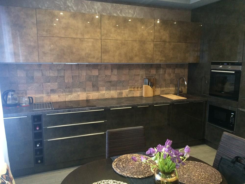 Акриловые кухни-Кухня из пластика «Модель 113»-фото1