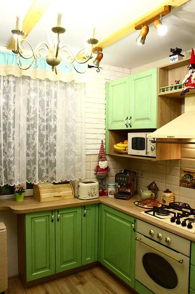 Встроенная кухня-Кухня МДФ в эмали «Модель 120»-фото3