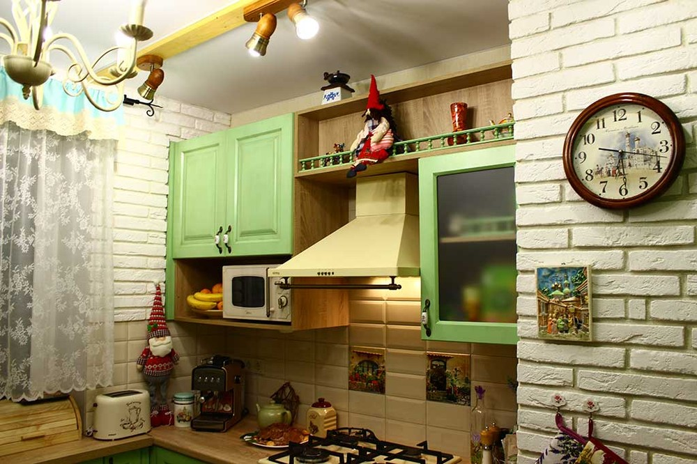 Встроенная кухня-Кухня МДФ в эмали «Модель 120»-фото6