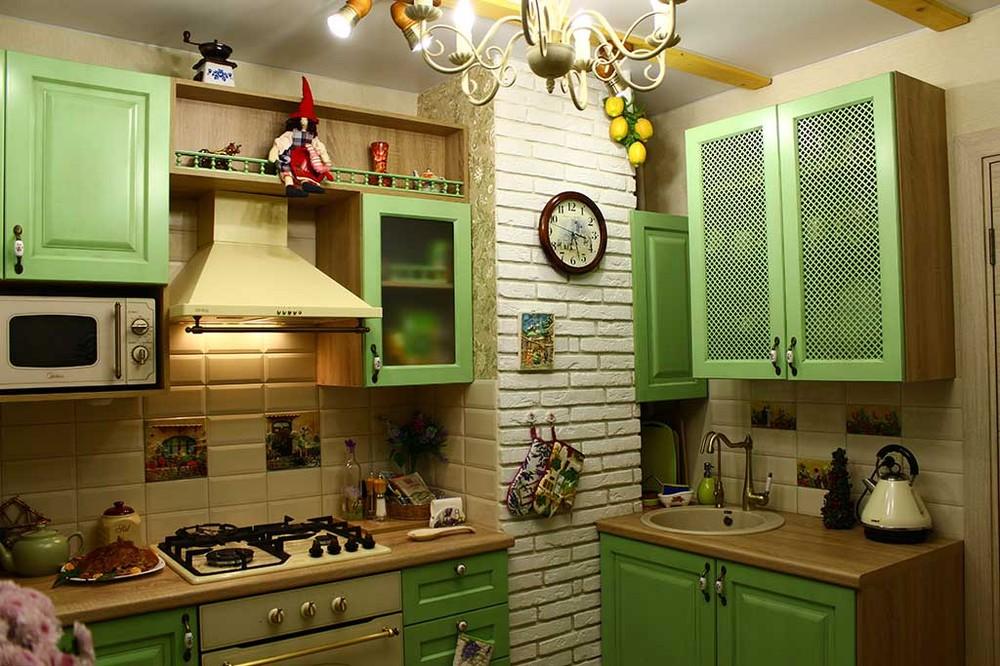 Встроенная кухня-Кухня МДФ в эмали «Модель 120»-фото1