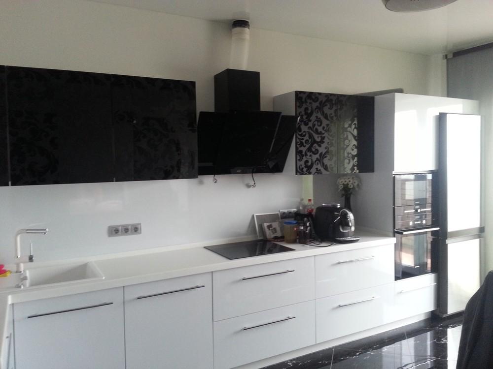 Белый кухонный гарнитур-Кухня МДФ в ПВХ «Модель 209»-фото3