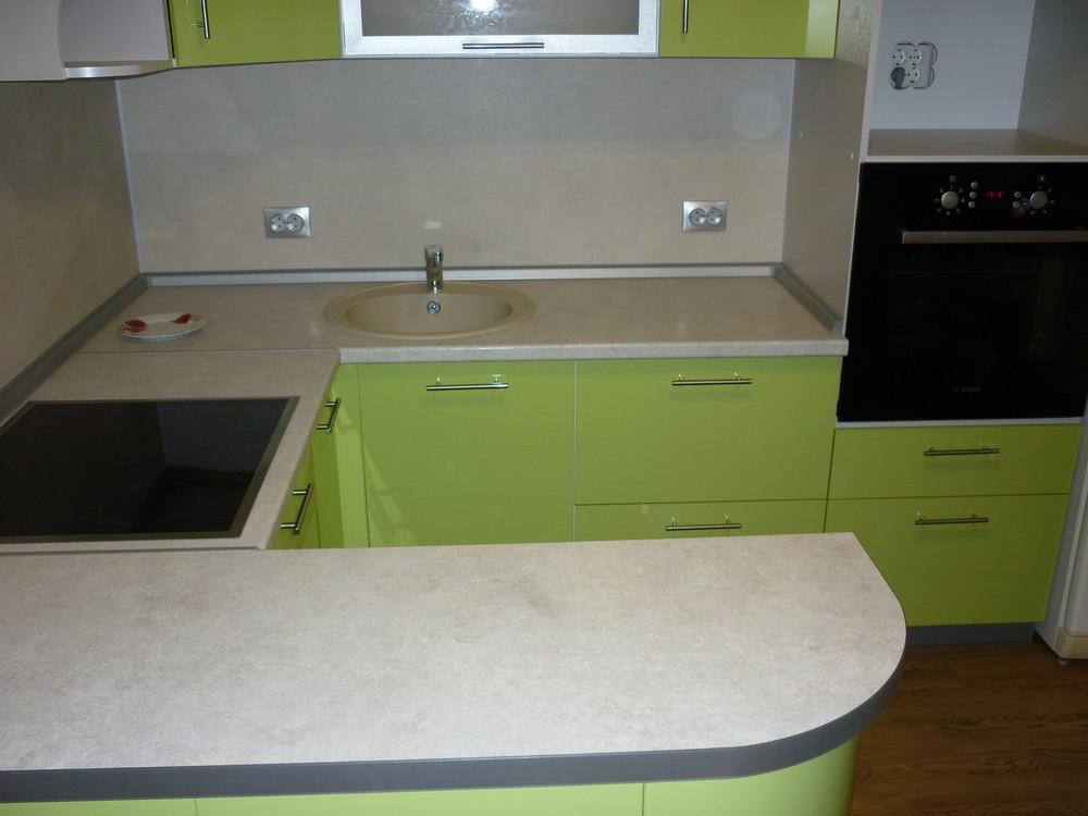 Встроенная кухня-Кухня МДФ в ПВХ «Модель 261»-фото1