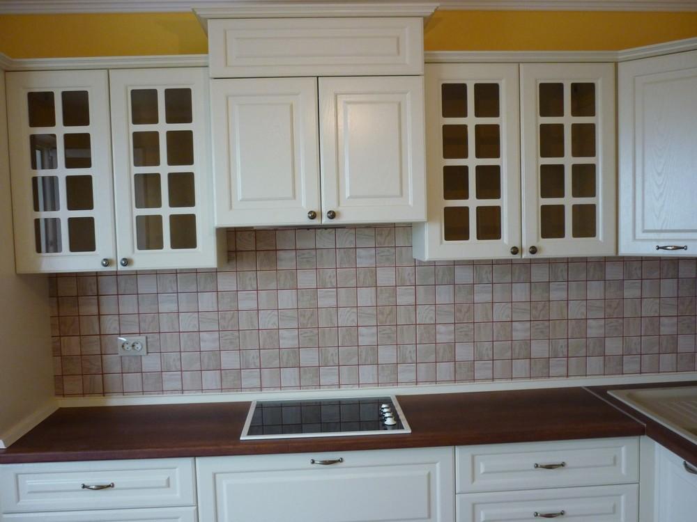 Белый кухонный гарнитур-Кухня МДФ в ПВХ «Модель 246»-фото3