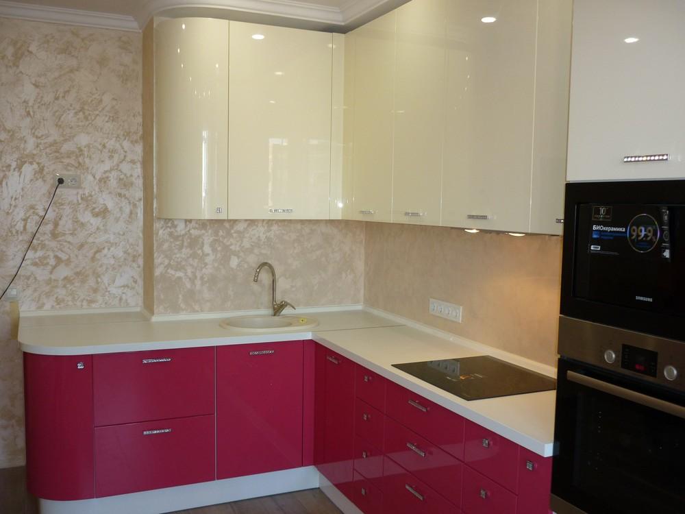 Встроенная кухня-Кухня МДФ в эмали «Модель 252»-фото2