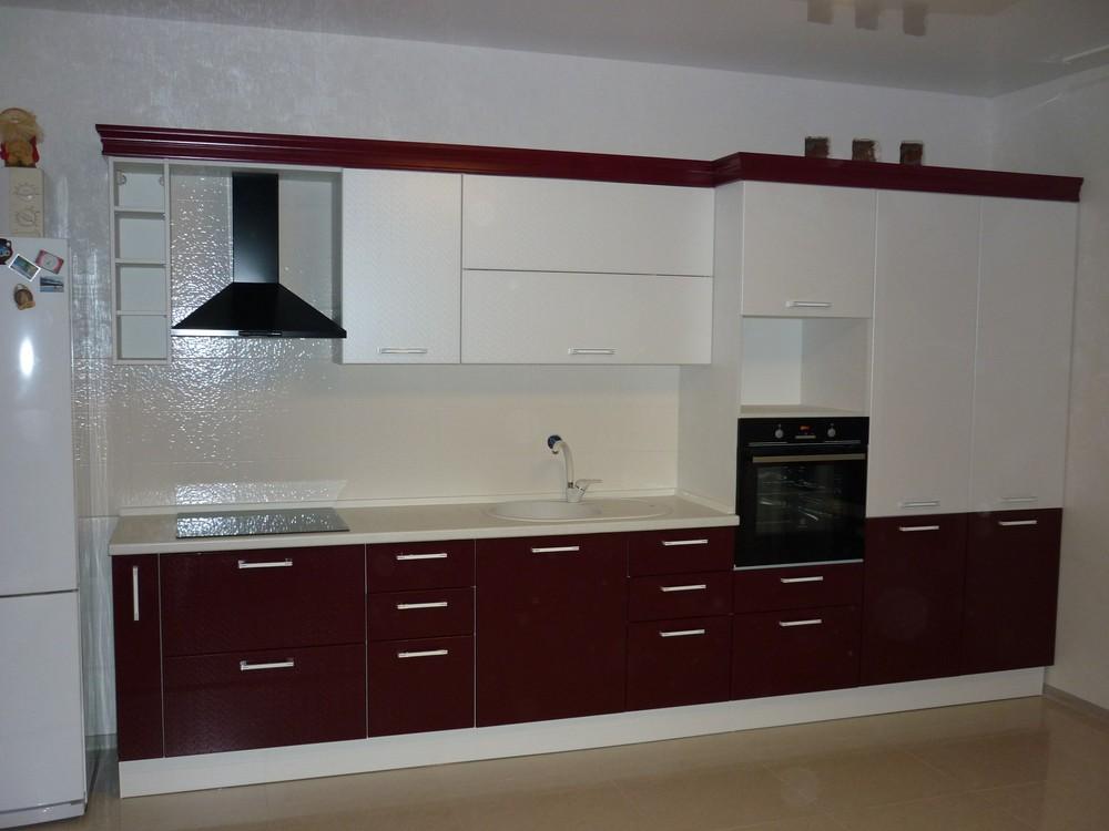 Встроенная кухня-Кухня МДФ в ПВХ «Модель 250»-фото1