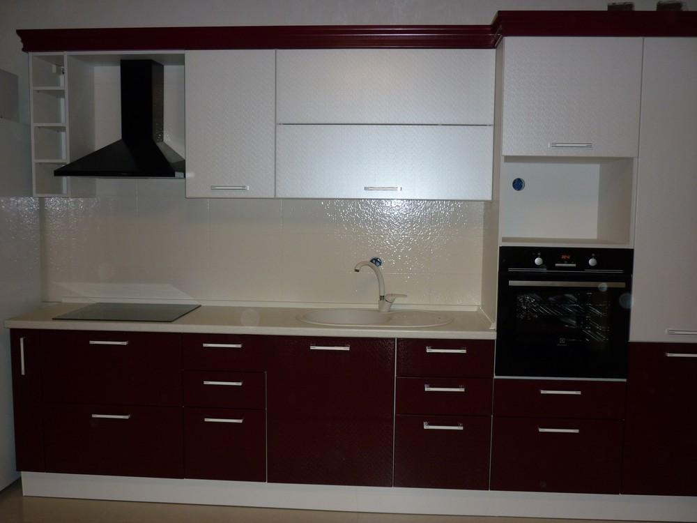 Встроенная кухня-Кухня МДФ в ПВХ «Модель 250»-фото2