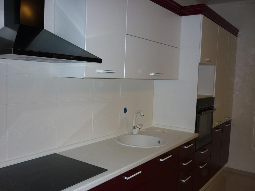 Встроенная кухня-Кухня МДФ в ПВХ «Модель 250»-фото3
