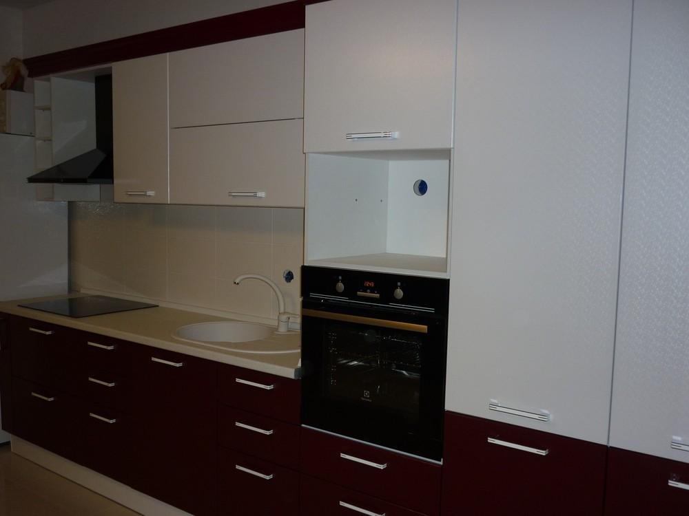 Встроенная кухня-Кухня МДФ в ПВХ «Модель 250»-фото4