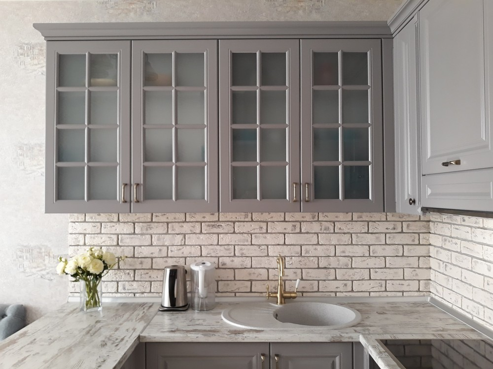 Встроенная кухня-Кухня МДФ в эмали «Модель 281»-фото2