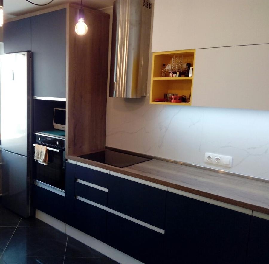 Встроенная кухня-Кухня из пластика «Модель 336»-фото2