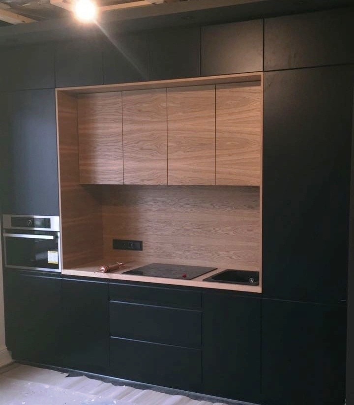 Встроенная кухня-Кухня МДФ в эмали «Модель 464»-фото2
