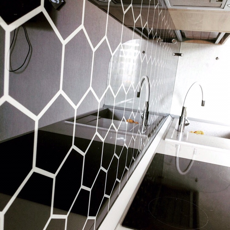 Белый кухонный гарнитур-Кухня МДФ в эмали «Модель 421»-фото7