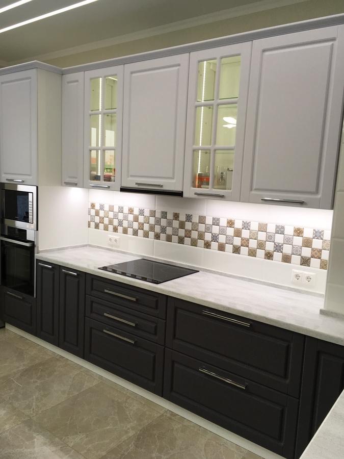 Белый кухонный гарнитур-Кухня МДФ в пленке ПВХ «Модель 505»-фото2