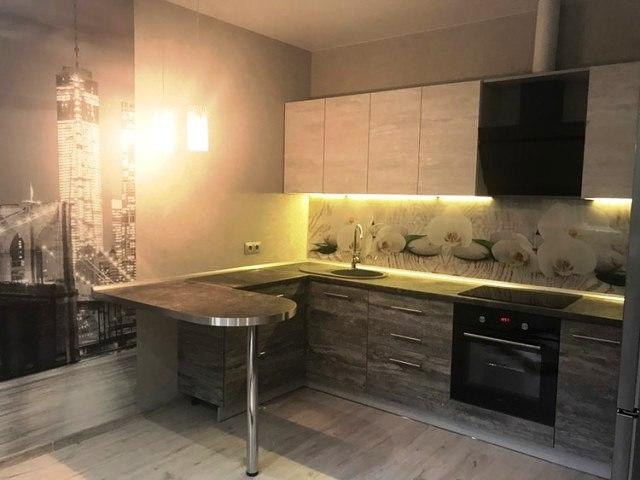 Белый кухонный гарнитур-Кухня из ЛДСП «Модель 397»-фото1