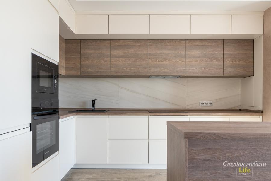 Белый кухонный гарнитур-Кухня из ЛДСП «Модель 424»-фото2