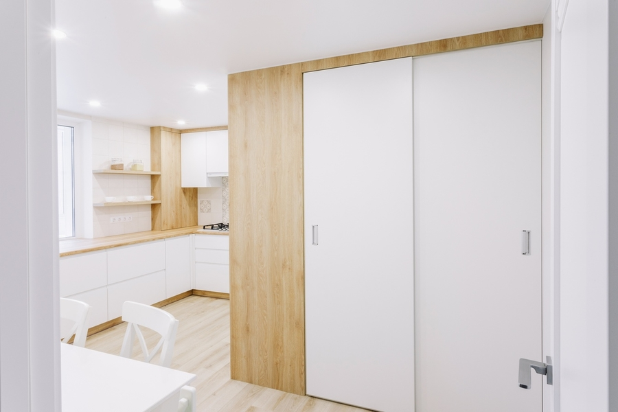 Белый кухонный гарнитур-Кухня МДФ в эмали «Модель 404»-фото3
