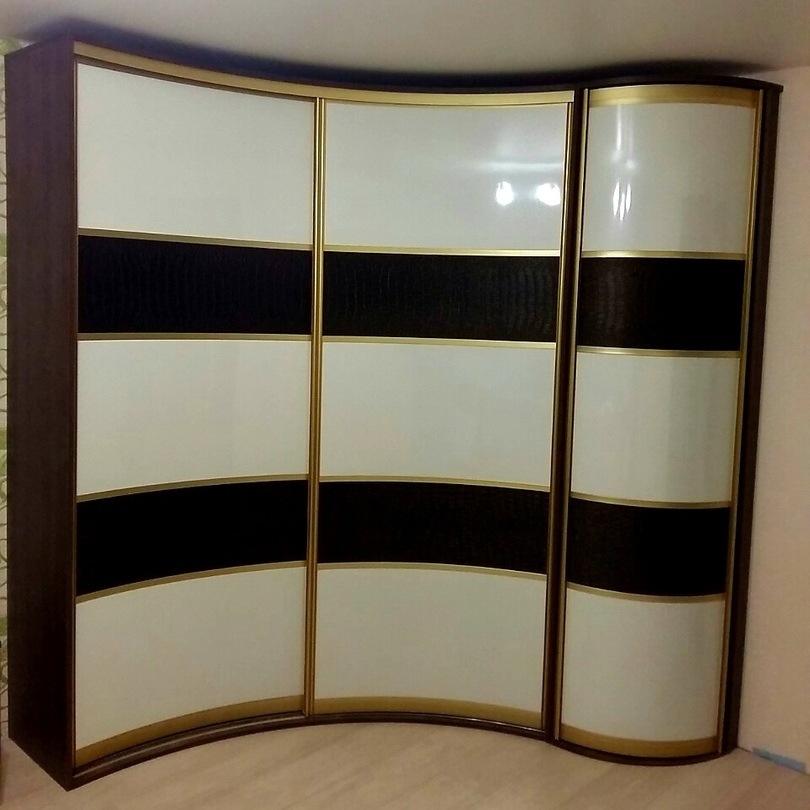 Белые шкафы-купе-Радиусный шкаф-купе «Модель 236»-фото1