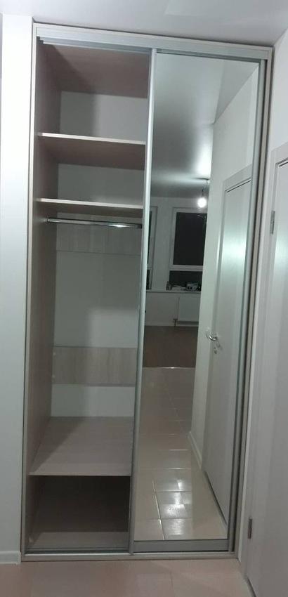Бельевой шкаф-купе-Шкаф-купе с зеркалом «Модель 411»-фото2
