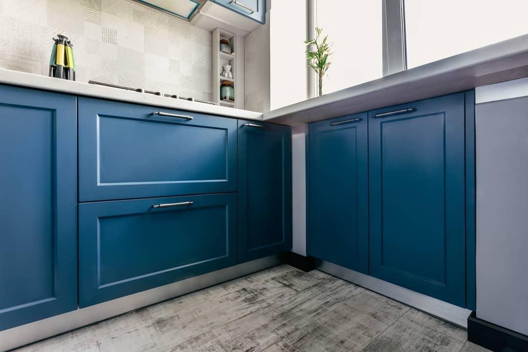 Встроенная кухня-Кухня МДФ в эмали «Модель 612»-фото3