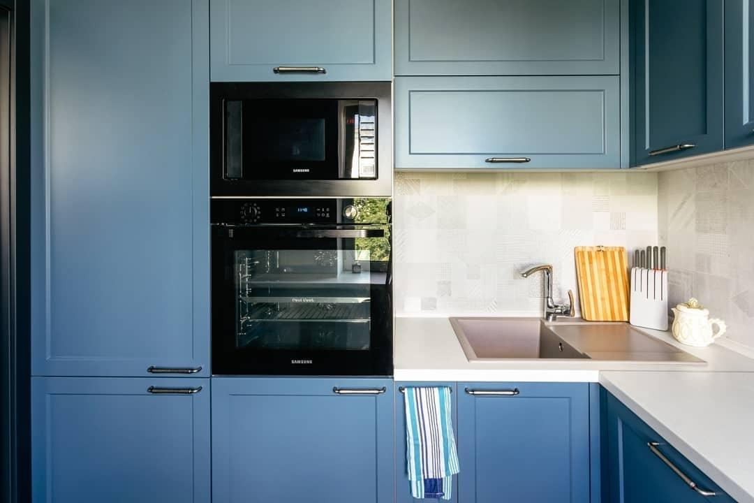 Встроенная кухня-Кухня МДФ в эмали «Модель 612»-фото2