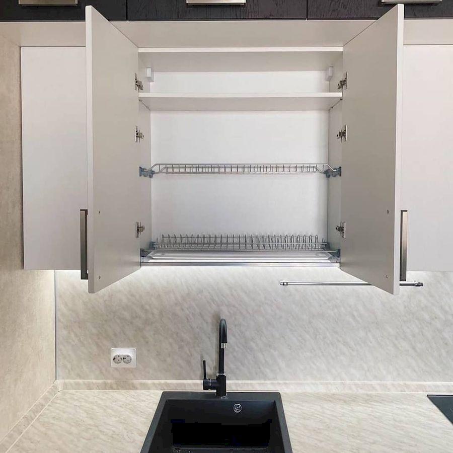 Белый кухонный гарнитур-Кухня МДФ в ПВХ «Модель 681»-фото4