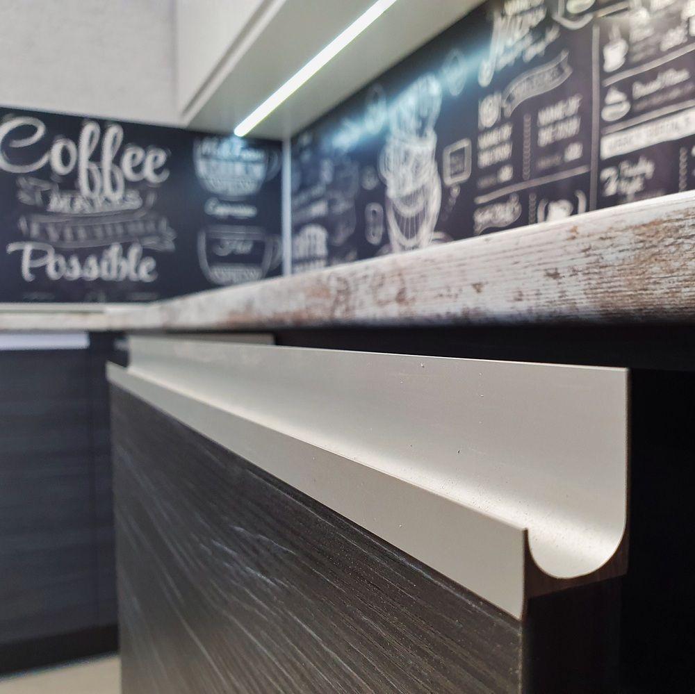 Белый кухонный гарнитур-Кухня МДФ в эмали «Модель 534»-фото6