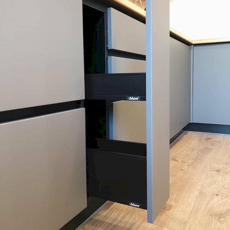 Высокие кухни под потолок-Кухня МДФ в эмали «Модель 676»-фото7