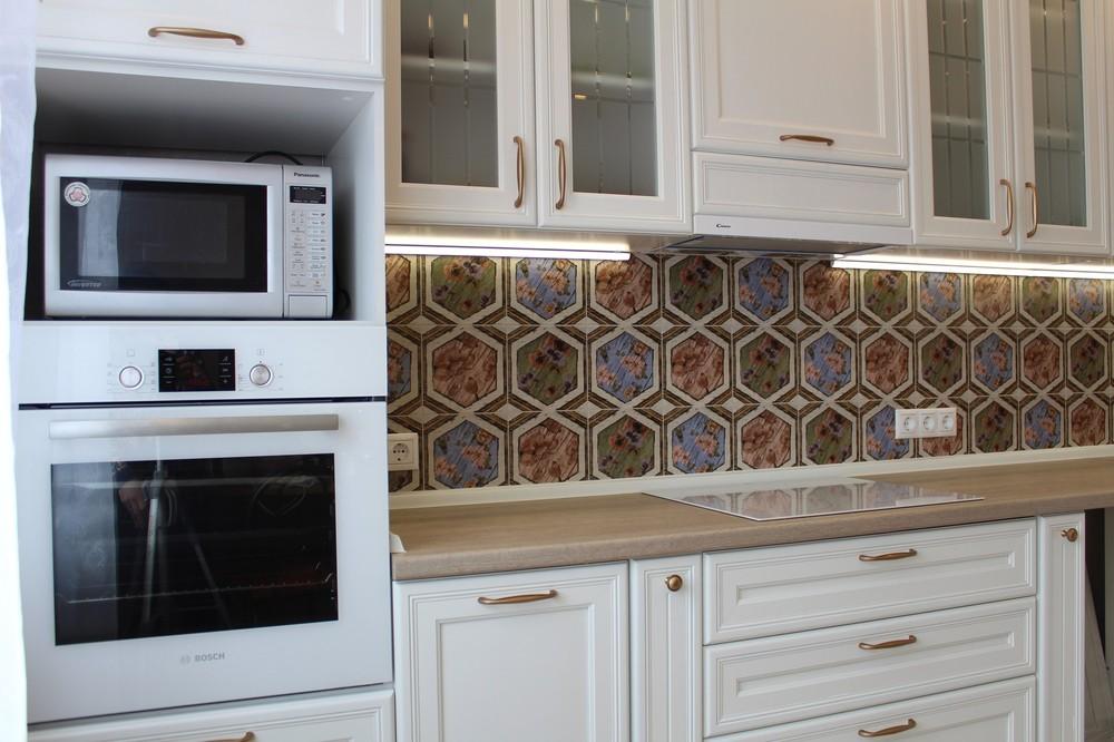 Акриловые кухни-Кухня из пластика «Модель 134»-фото2