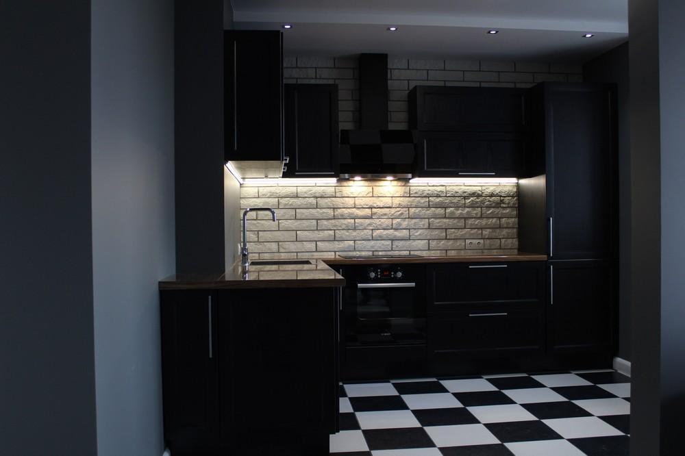 Встроенная кухня-Кухня МДФ в ПВХ «Модель 153»-фото2