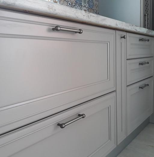 Встроенная кухня-Кухня МДФ в эмали «Модель 283»-фото8