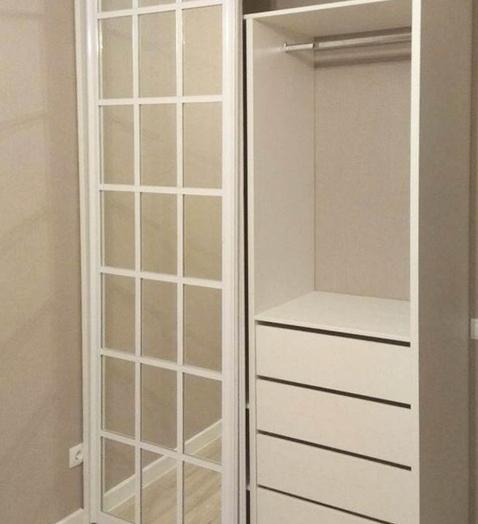 Белые шкафы-купе-Шкаф-купе с зеркалом «Модель 348»-фото3