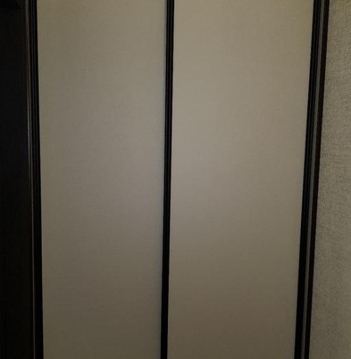 Белые шкафы-купе-Шкаф-купе из стекла Лакобель «Модель 408»-фото2